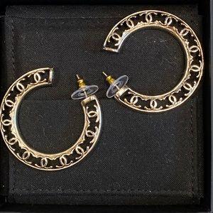 Chanel BNIB gold CC HOOPS earrings